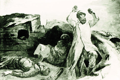 Bromberg Manuel. Немецкий солдат сдается в плен.