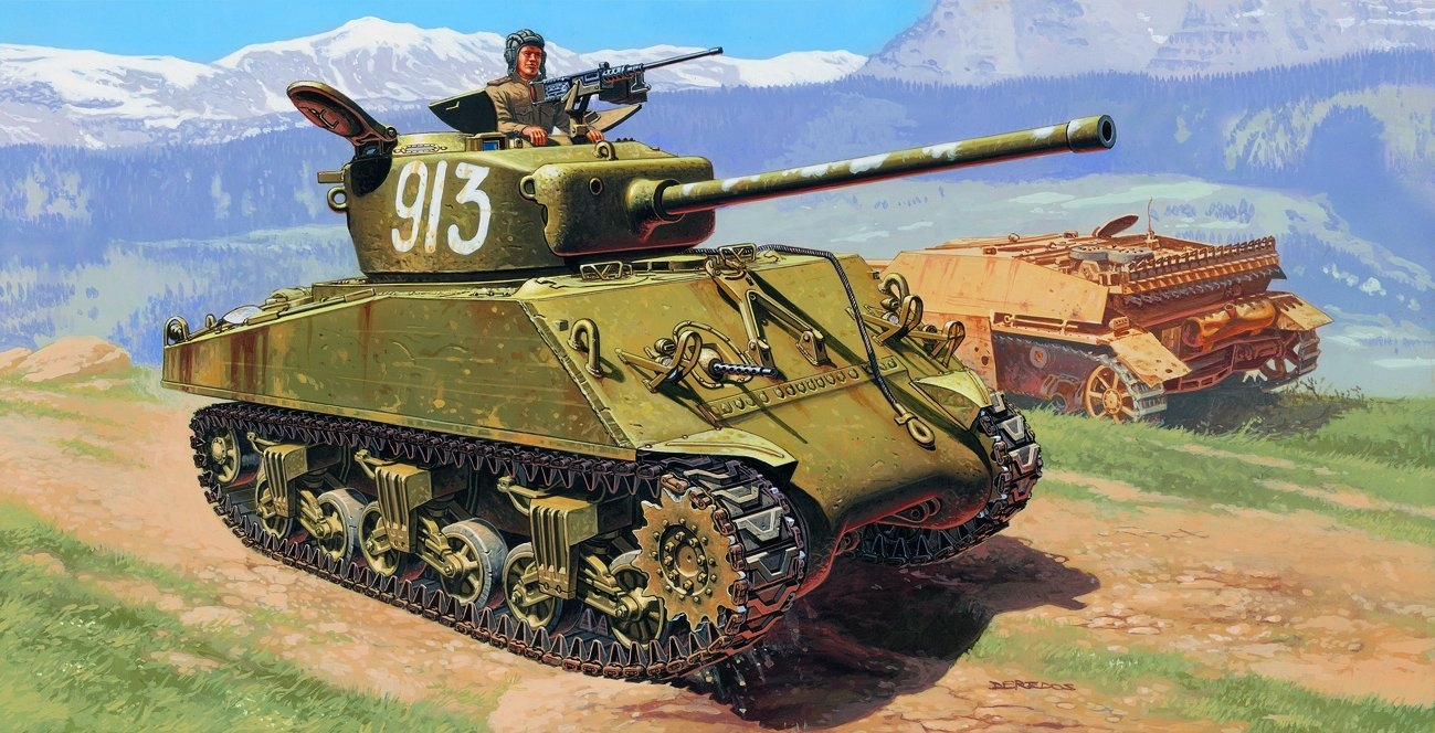 Deredos Andrzej. Танк M-4A2 76 mm «Wet» (Sherman).
