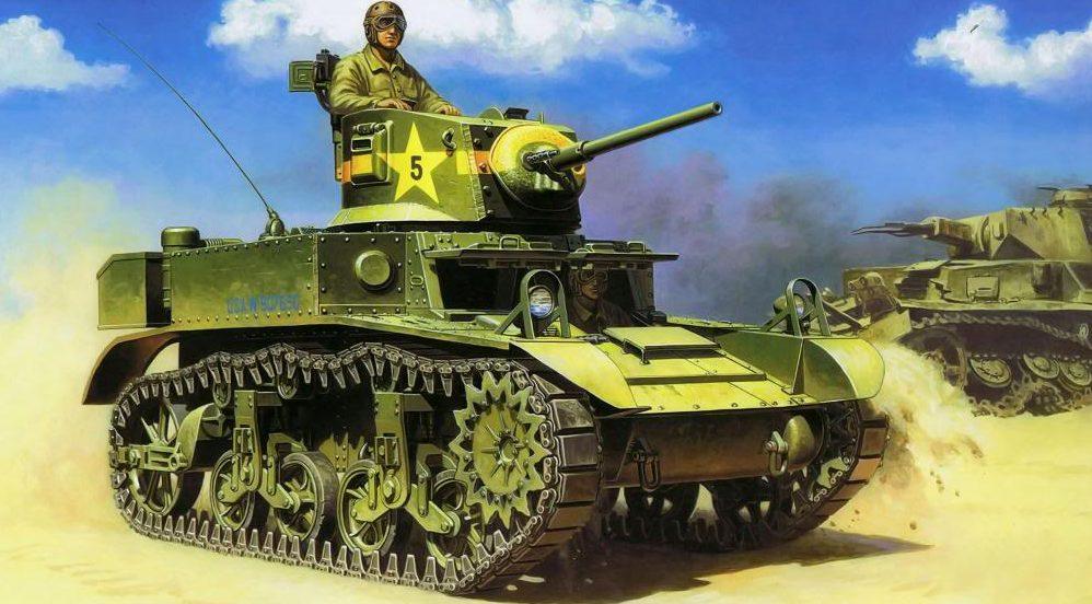 Deredos Andrzej. Танк M-3A1 Stuart .