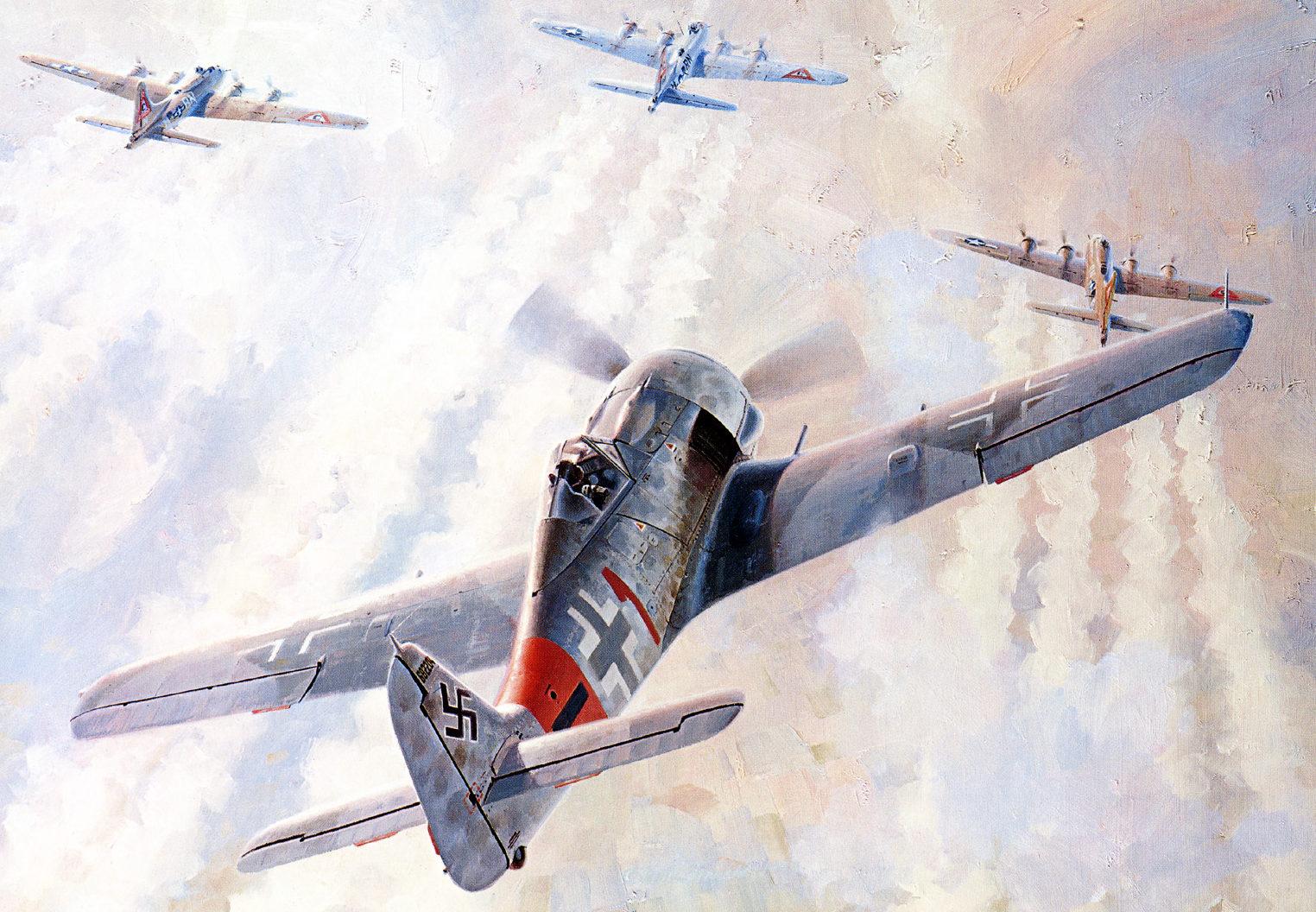 Ferris Keith. Атака истребителя FW-190.
