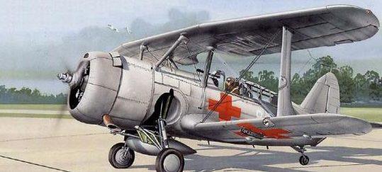 Tullis Tom. Санитарный самолет Curtiss SBC-4 Helldiver.