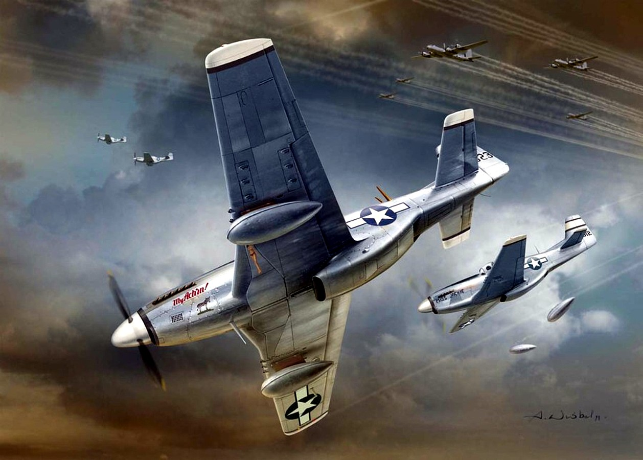 Wróbel Arkadiusz. Истребитель P-51 «Mustang».