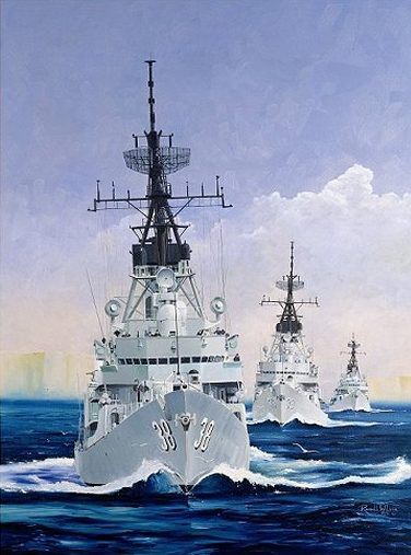 Wilson Randall. Эсминцы «Perth», «Hobart» и «Brisbane».