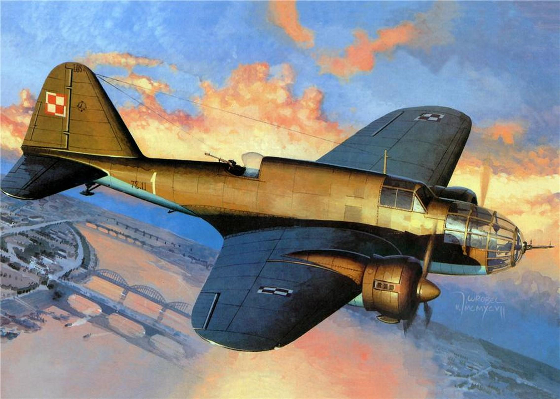 Wrobel Jaroslaw. Бомбардировщик PZL.37.