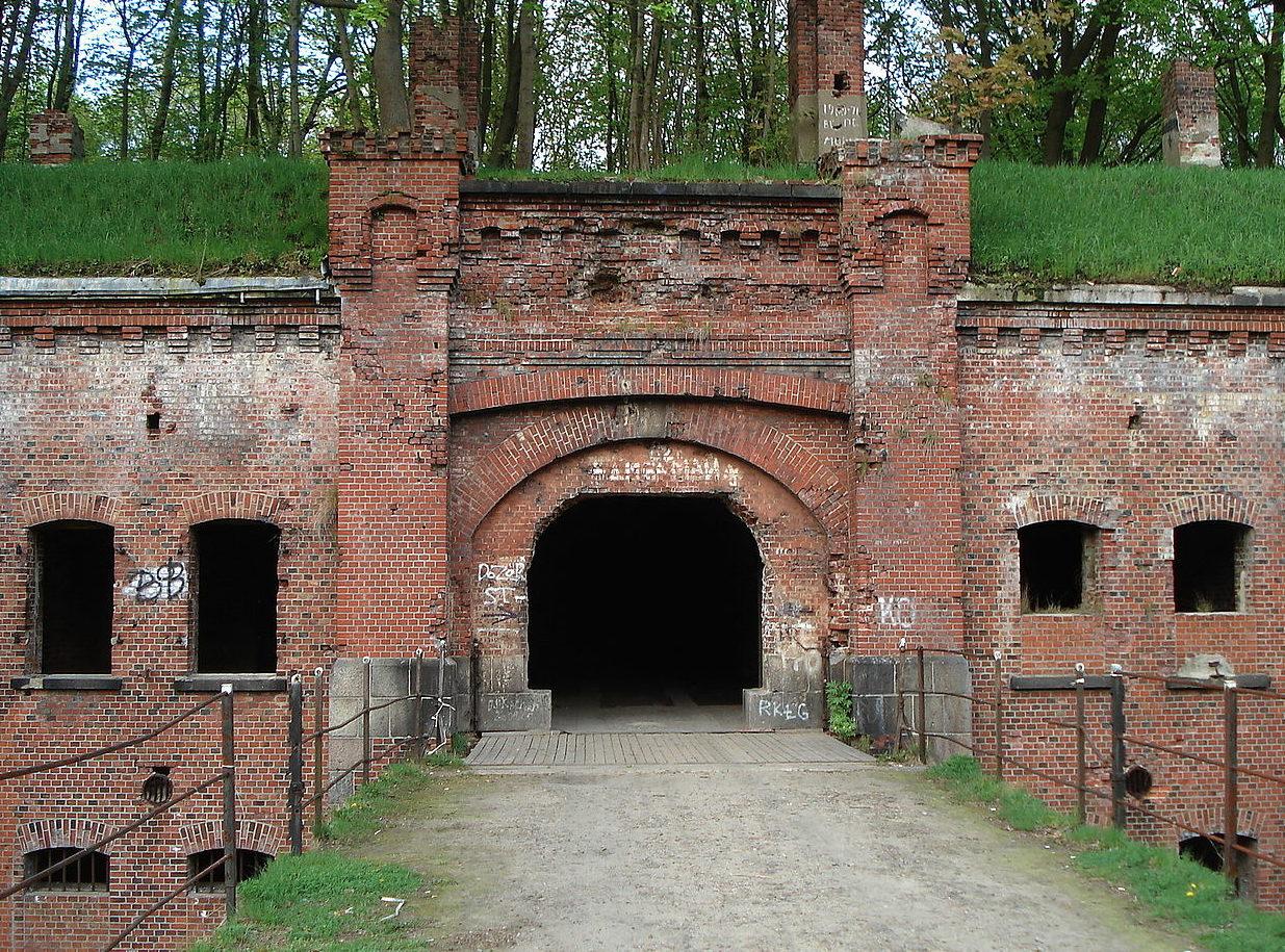 Вход в форт.