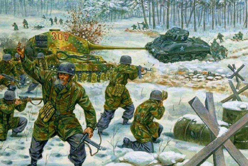Rava Giuseppe. Немецкие десантники в Арденнах.