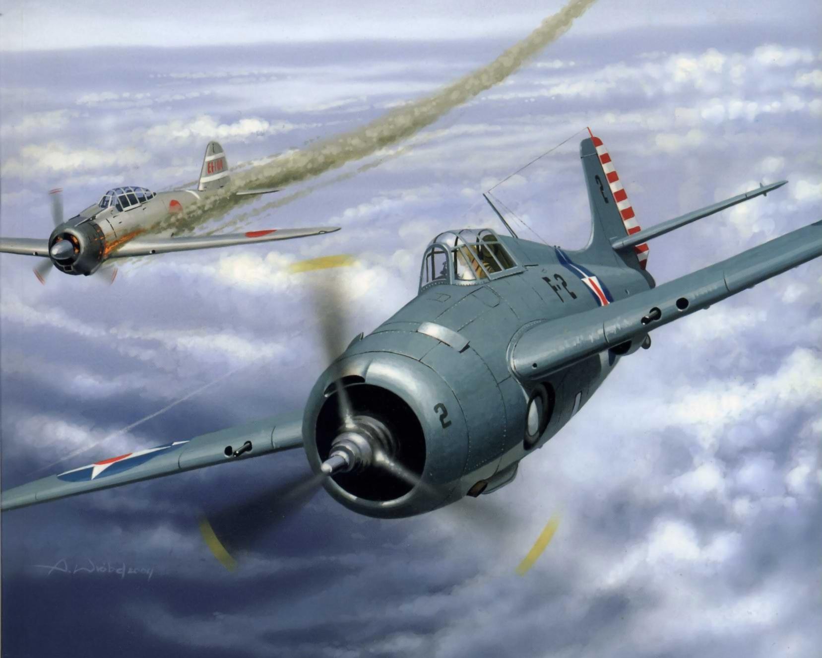 Wróbel Arkadiusz. Истребитель Grumman F-4F Wildcat.