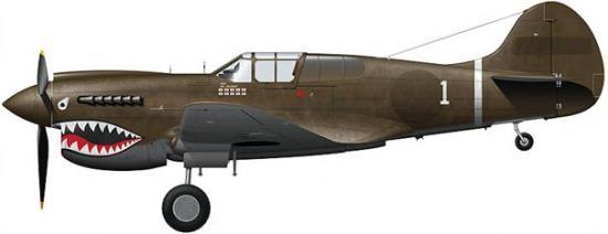 Tullis Tom. Истребитель Curtiss P-40K-5-CU.