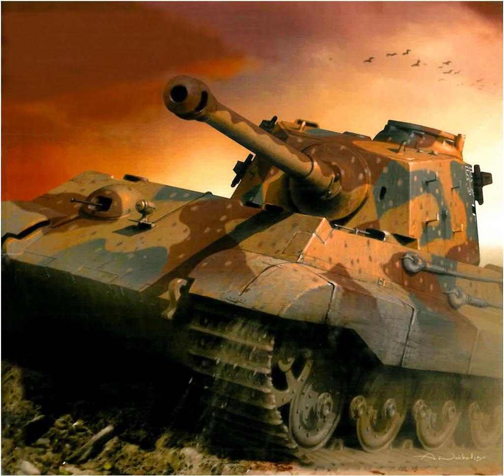 Wróbel Arkadiusz. Танк Tiger II.