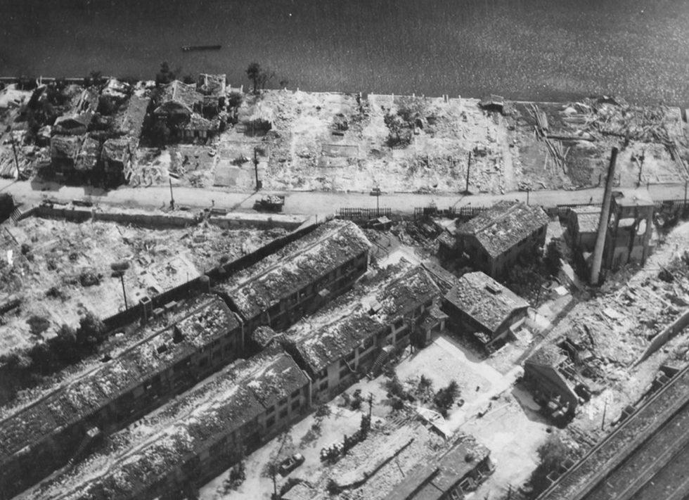 Промышленный район Хиросимы. Осень 1945 г.