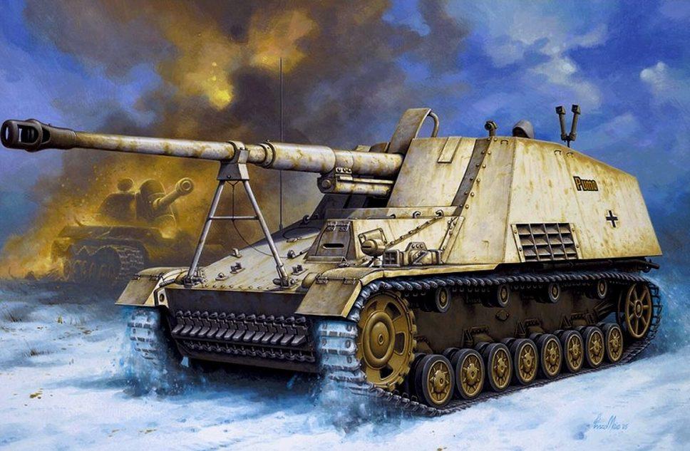 Maio Enzo. САУ Panzerjager Nashorn Sd.Kfz. 164.