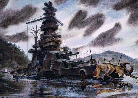 Backus Standish. Японский броненосец «Hyūga».