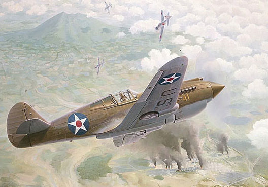 Ferris Keith. Истребитель Curtiss P-40B.