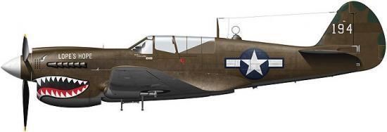 Tullis Tom. Истребитель Curtiss P-40N-20-CU.