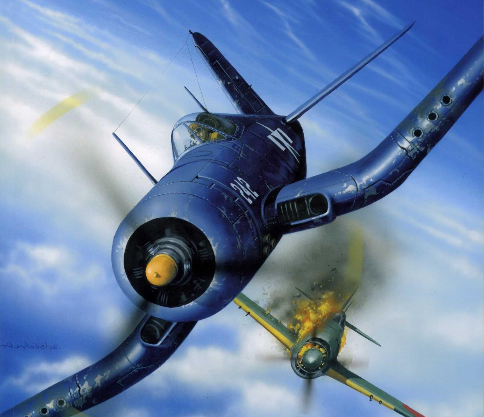 Wróbel Arkadiusz. Истребитель Chance Vought F-4U Corsair.