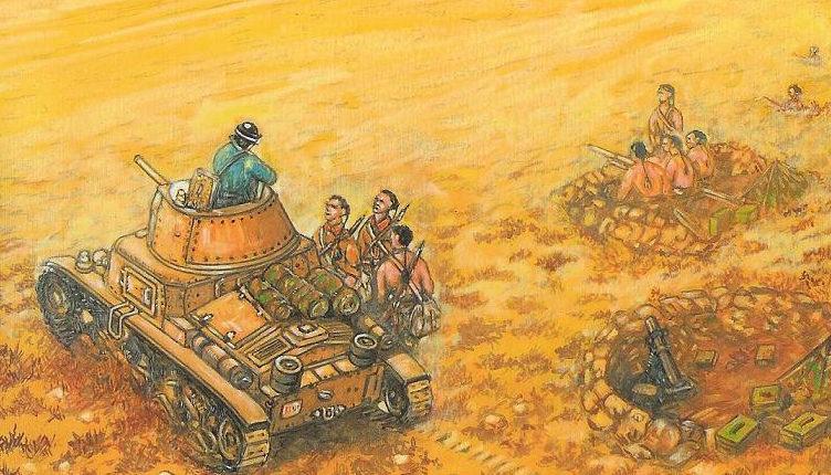 Parducci Alberto. Позиции в пустыне.