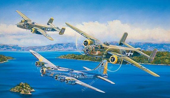 Herter Rick. Бомбардировщики В-17 и В-25.