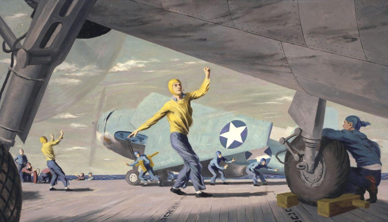 Lawrence Beall-Smith. Обслуживание самолетов на палубе.