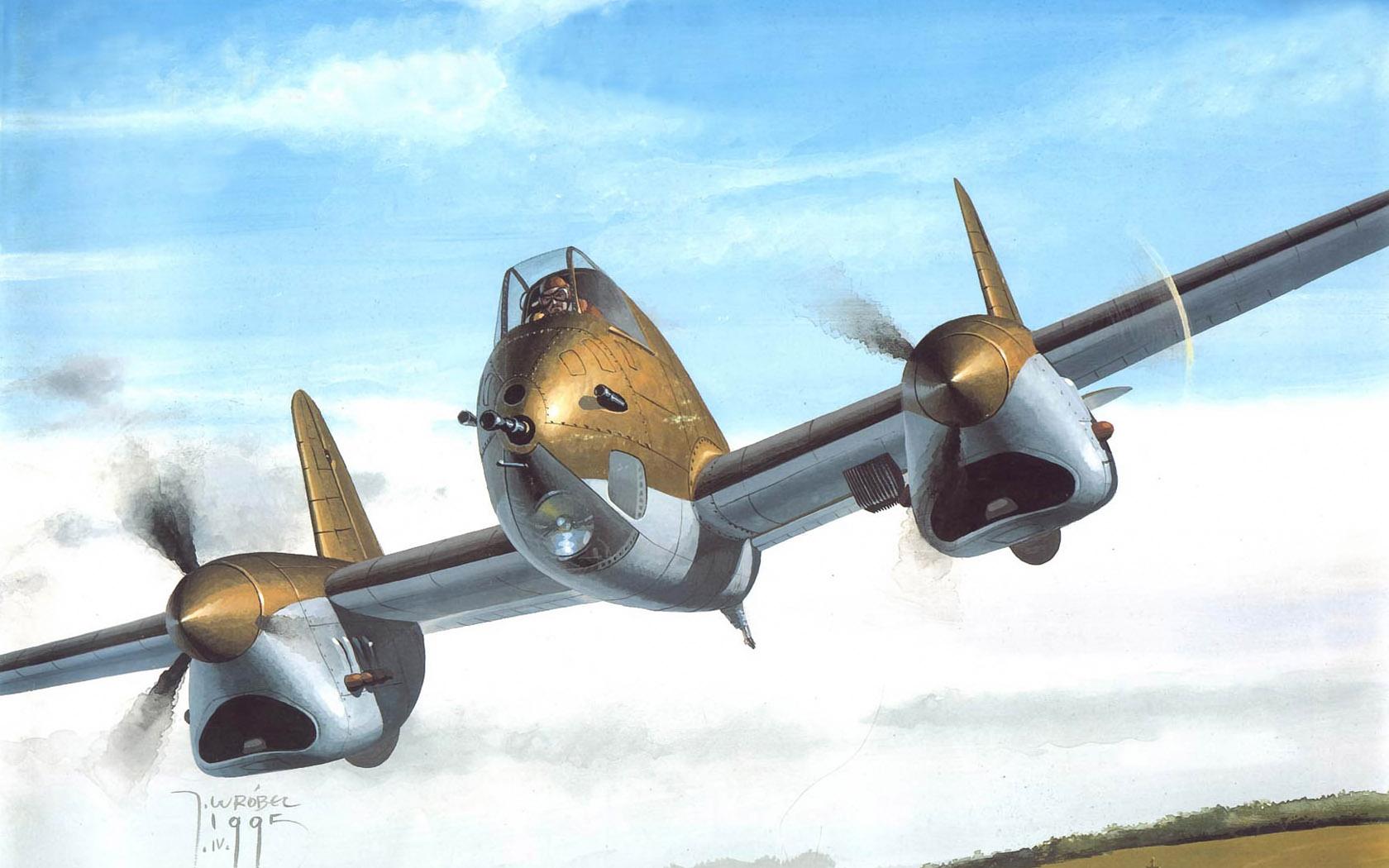 Wrobel Jaroslaw. Штурмовик PZL-38.