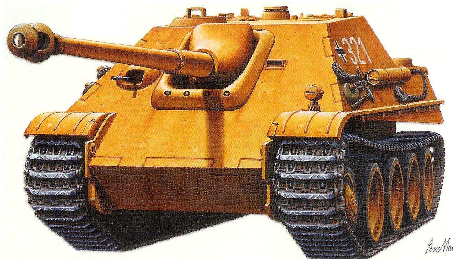 Maio Enzo. CАУ Jagdpanzer.