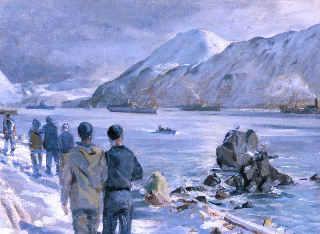 Draper William. Встреча конвоя на Аляске.