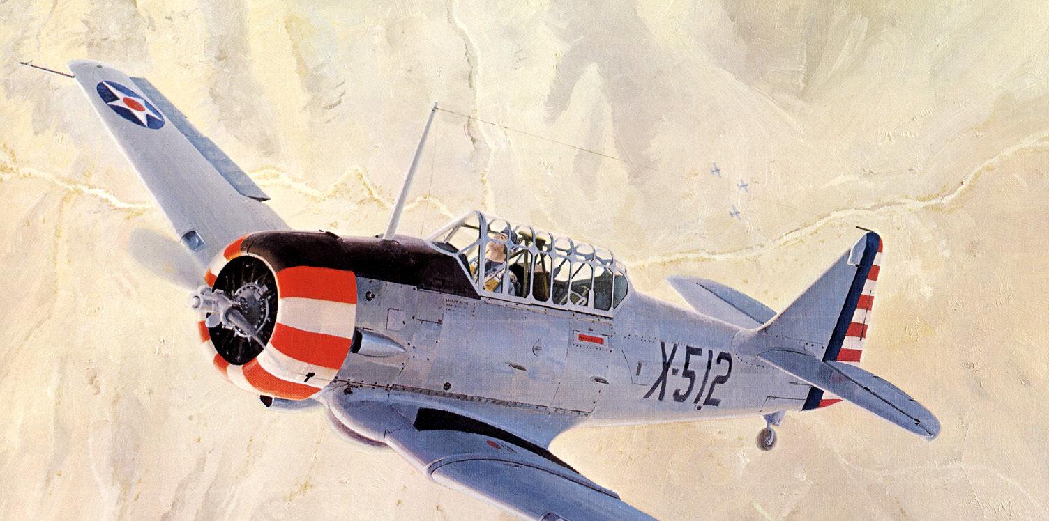 Ferris Keith. Учебно-тренировочный самолет AT-6A.