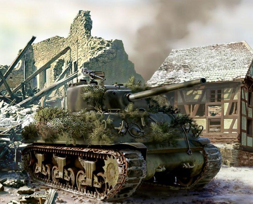 Laurier Jim. Танк M-4 Sherman.