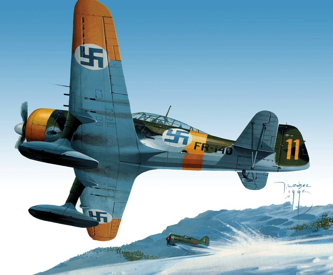 Wrobel Jaroslaw. Финский Fokker DXXI.