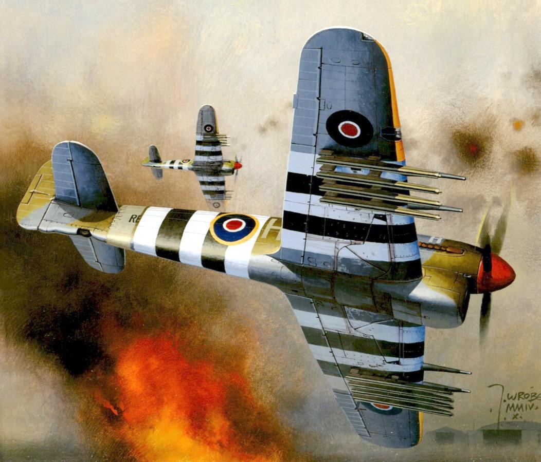 Wróbel Arkadiusz. Истребитель Hawker Typhoon.