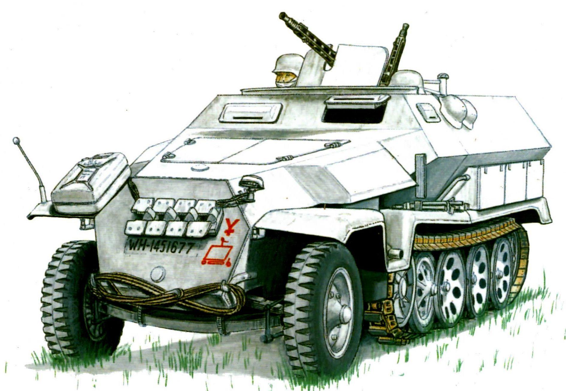 Laurier Jim. Бронеавтомобиль Sd.kfz. 251/1 Ausf. C.