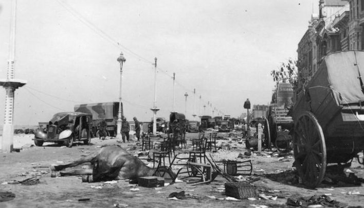 Побережье после эвакуации. Дюнкерк, июнь 1940 г.
