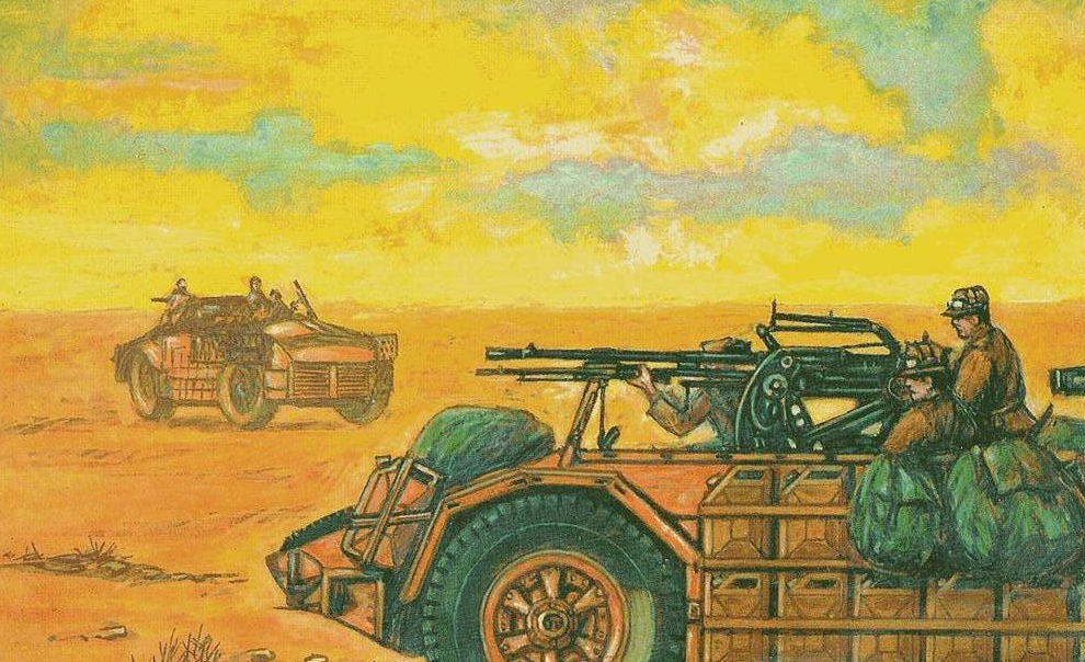 Parducci Alberto. Рейд в пустыне.