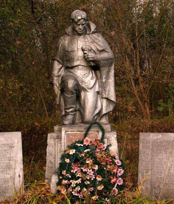 с. Залесье, Чернобыльская зона отчуждения. Памятник советским воинам.