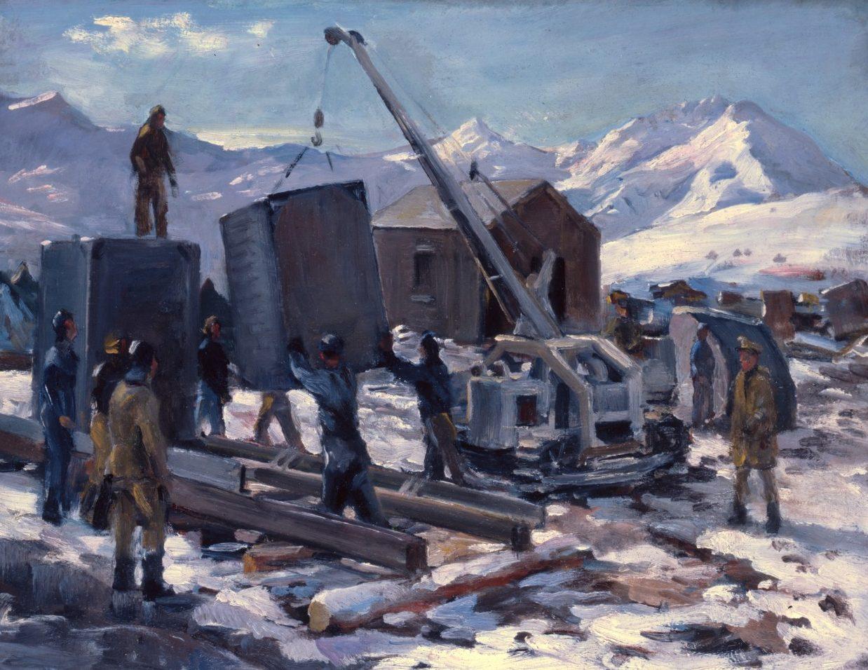 Draper William. Лагерь военных строителей на Аляске.