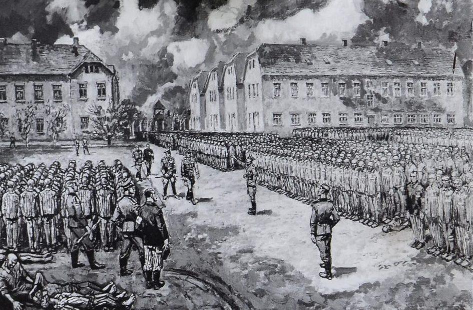 Koscielniak Mieczyslaw. Общее построение в лагере.