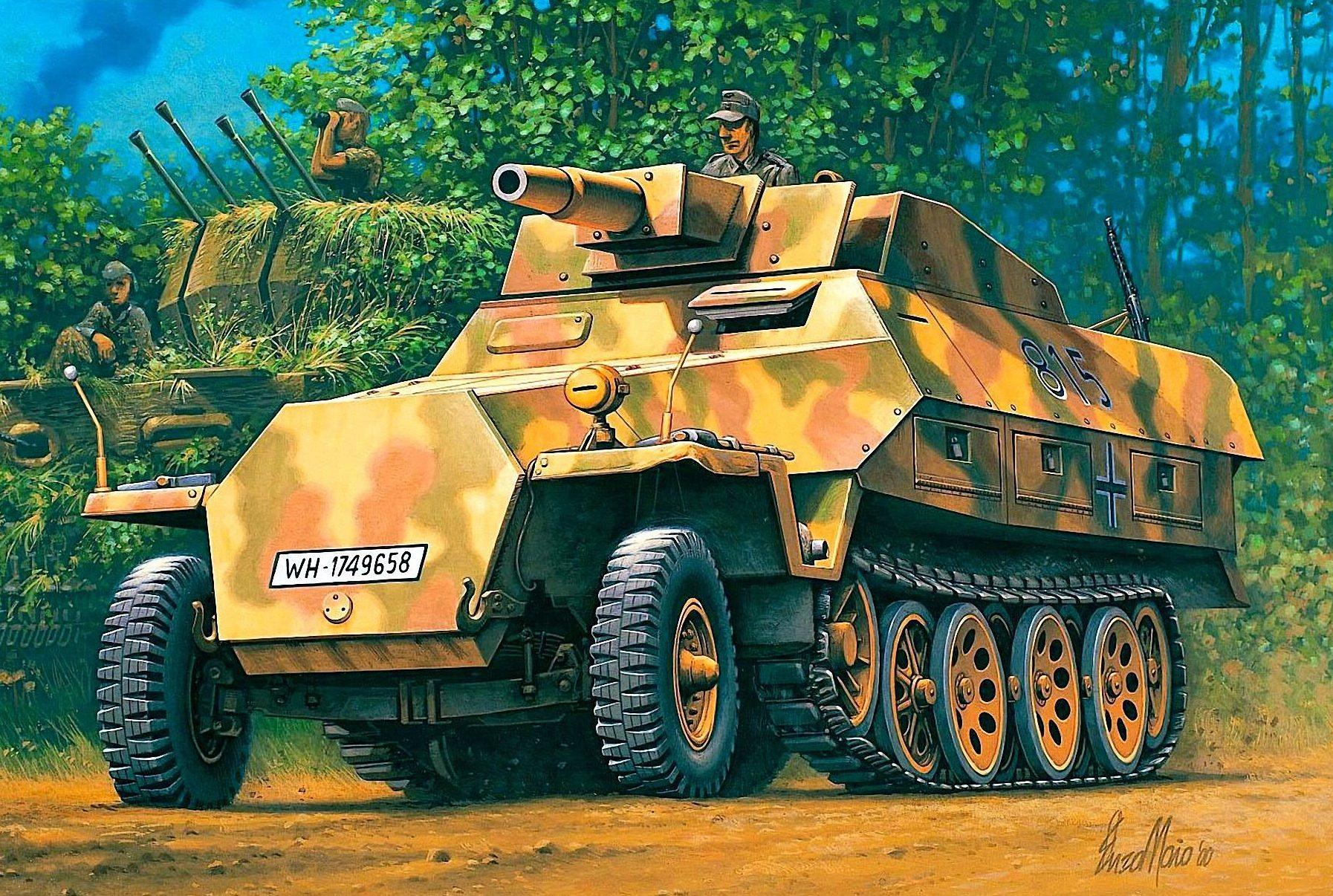 Maio Enzo. САУ Sd.Kfz 251/9 Stummel.