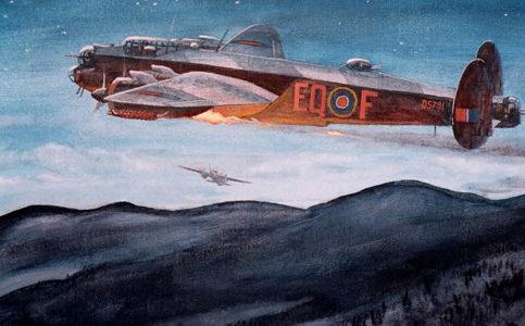 Tournay Steve. Бомбардировщик Lancaster II.