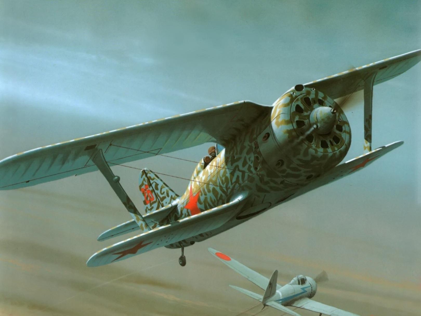 Wróbel Arkadiusz. Истребитель И-153.