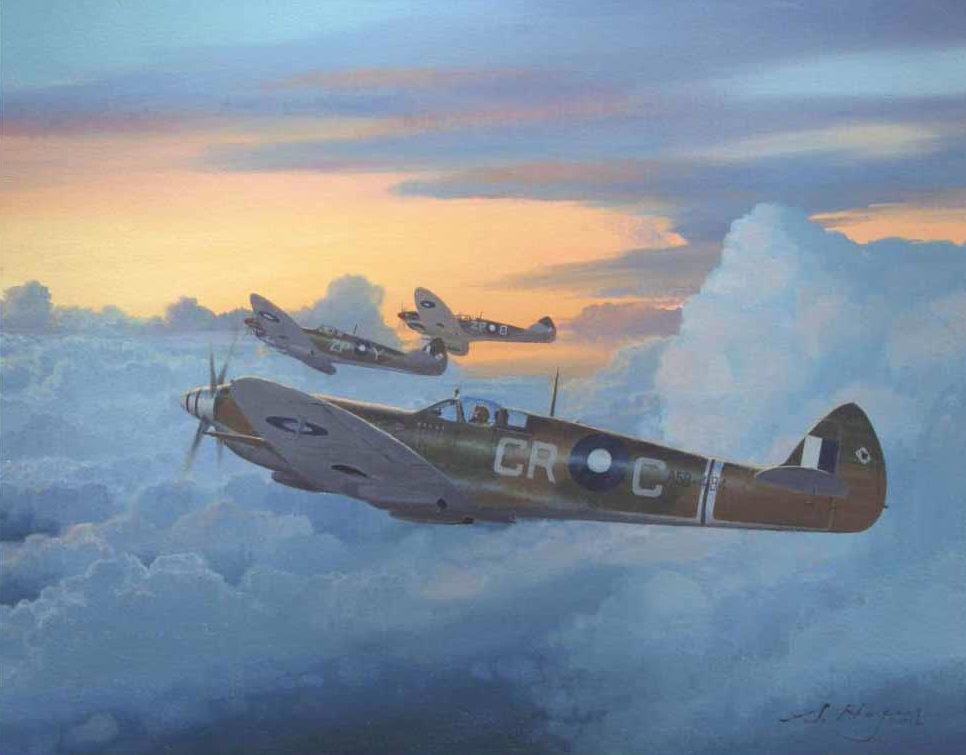 Heyen Steven. Истребитель Spitfire Mk.8.