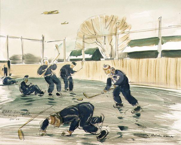 Warner Malcolm. Курсанты играют в хоккей.