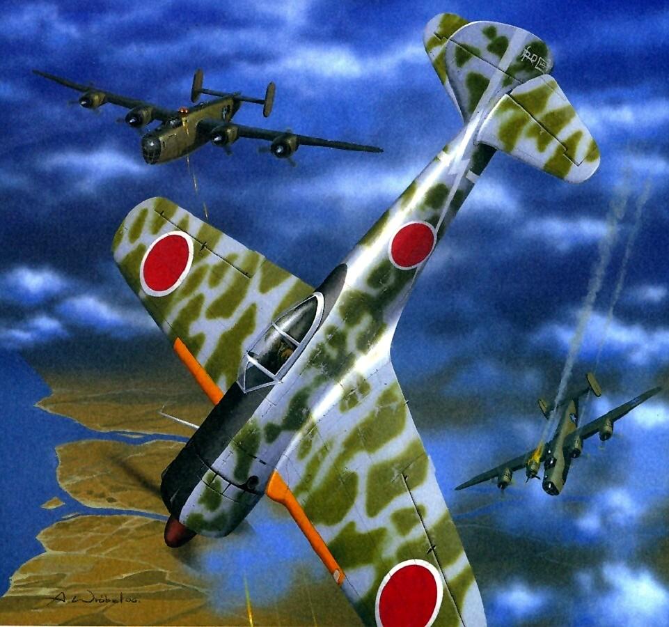 Wróbel Arkadiusz. Истребитель Nakajima Ki-43.