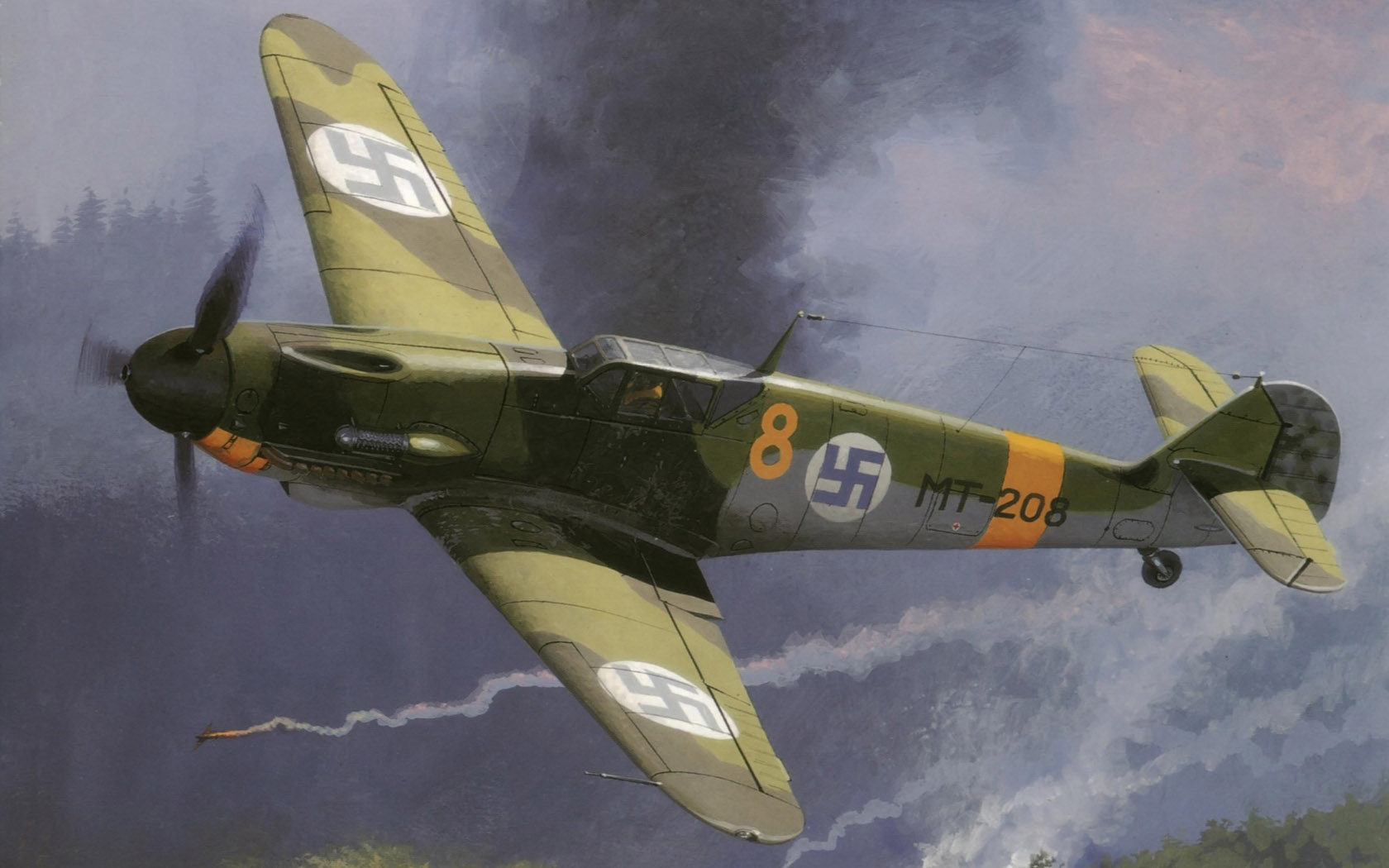 Wrobel Jaroslaw. Истребитель Me-109.