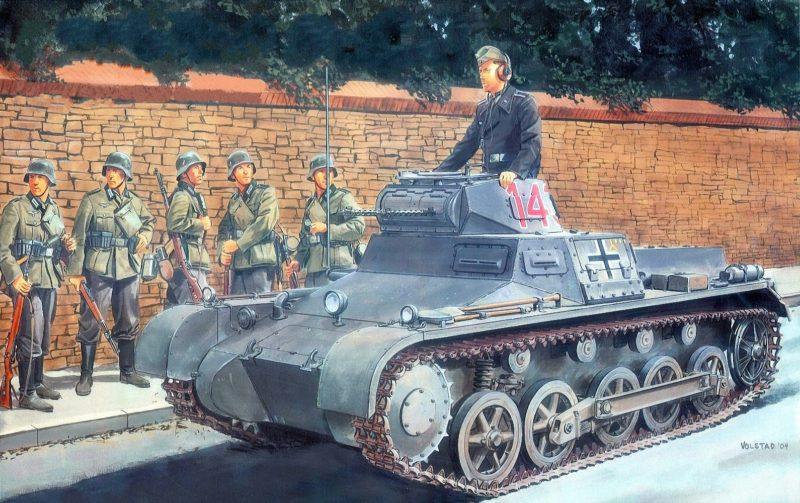 Volstad Ronald. Танк Pz.Kpfw. I Ausf. В.