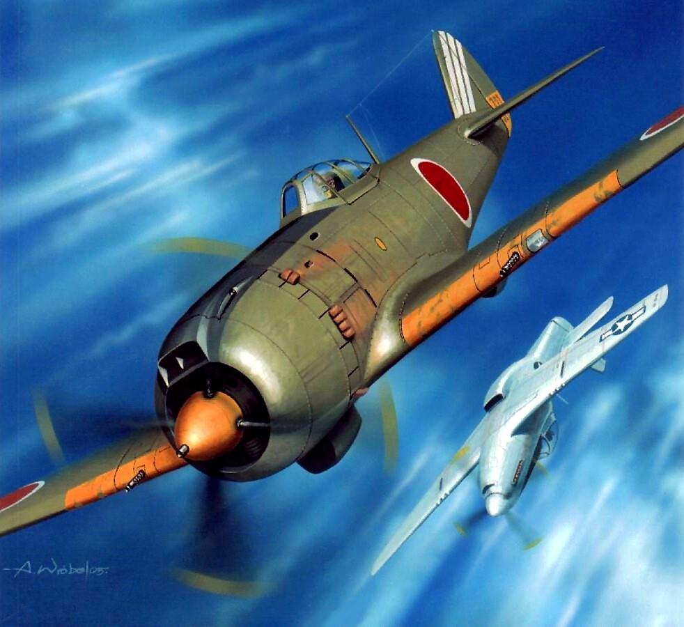 Wróbel Arkadiusz. Истребитель Nakajima Ki-84.