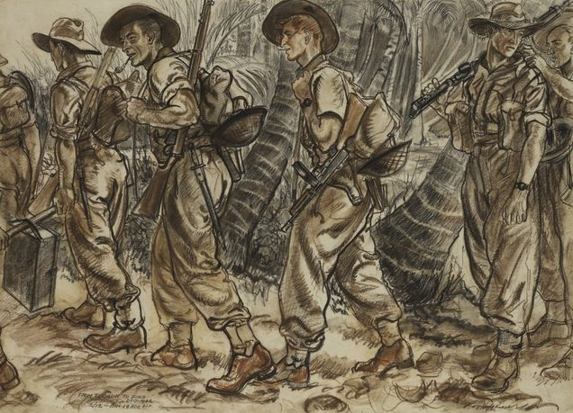 Hodgkinson Roy. Пехотный батальон в походе.