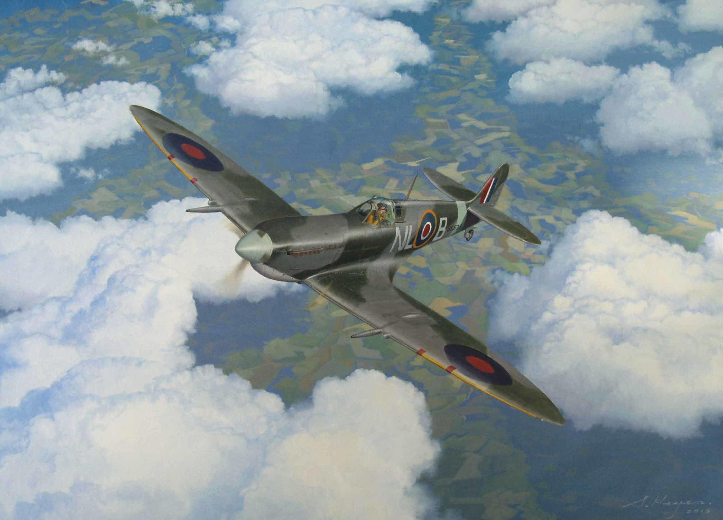 Heyen Steven. Истребители Spitfire Mk.9c.