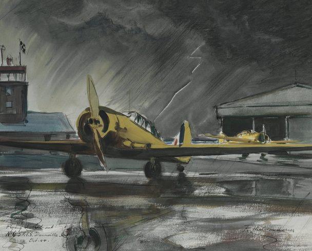 Warner Malcolm. Дождь на аэродроме.