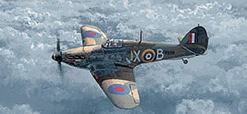 West Philip. Истребитель Hawker Hurricane.