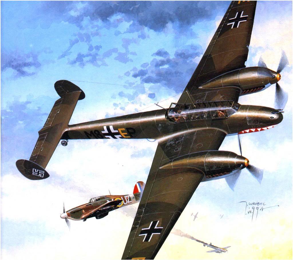 Wrobel Jaroslaw. Истребитель Bf-110C.