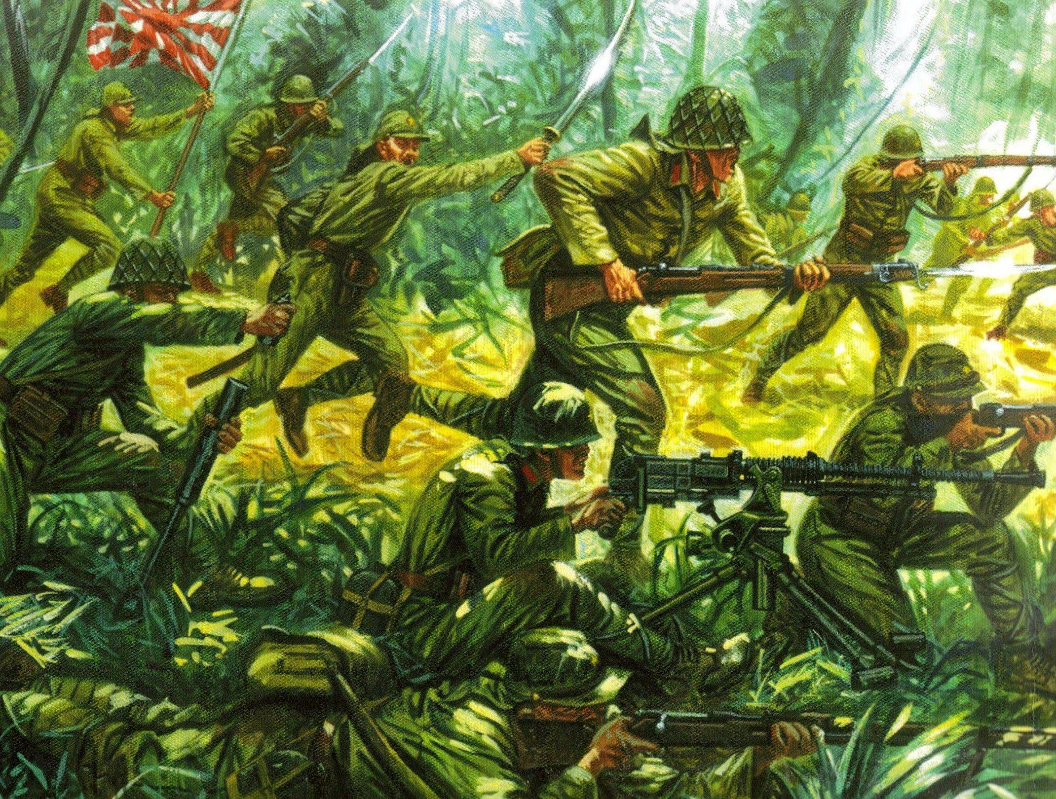 Rava Giuseppe. Японская пехота.